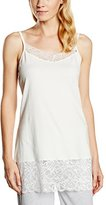 Sheego Women's Sleeveless Vest and Trousers -Multicolored (White)-