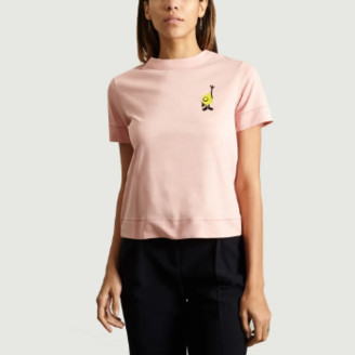 Loreak - Light Pink Lemon T Shirt - xs | cotton | light pink - Light pink