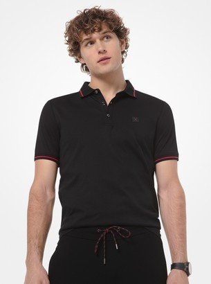 Michael Kors KORS X TECH Cotton-Blend Polo Shirt