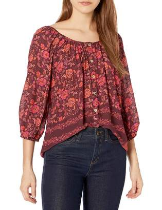 For Love and Liberty Love & Liberty Women's Printed Rayon Peasant top
