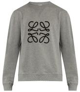 Loewe Braided-logo Crew-neck Cotton Sweatshirt