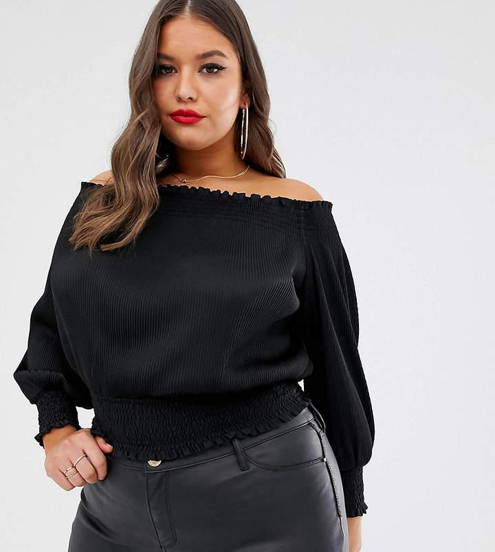 2c13f7e3700 Womens Black Bardot Top - ShopStyle UK
