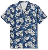 Officine Generale Dario Camp-Collar Printed Cotton-Voile Shirt