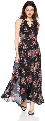 Sangria Women's Petite High-Low Maxi Dress