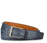Neiman Marcus Perforated Leather Belt, Blue