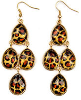 JCPenney Decree Animal Print Chandelier Earrings