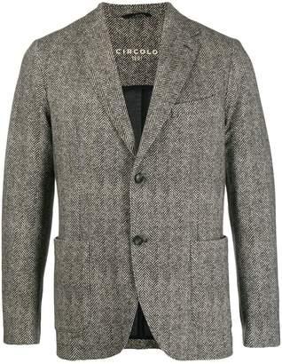 1901 Circolo chevron pattern blazer