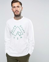 Poler Long Sleeve T-Shirt With Tent Logo
