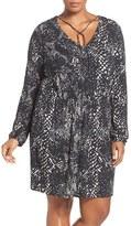 Tart Plus Size Women's 'Robby' Print Jersey V-Neck Dress