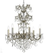 Swarovski Weiland 6-Light Candle Style Classic / Traditional Chandelier Astoria Grand Crystal Grade Spectra