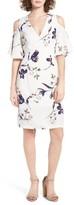 Leith Women's Flutter Sleeve Cold Shoulder Dress