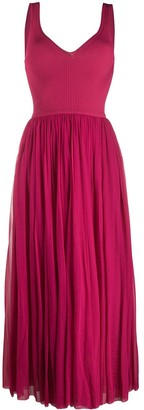 Alexander McQueen Long Pleated Skirt Dress
