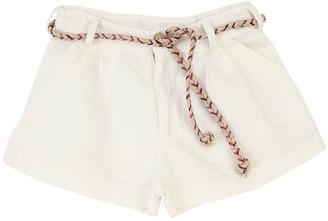 Opililai Linen Blend Shorts W/ Belt