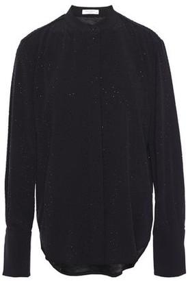Equipment Jecinthe Crystal-embellished Cady Shirt