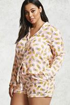 Forever 21 FOREVER 21+ Plus Size Pineapple Pajama Set