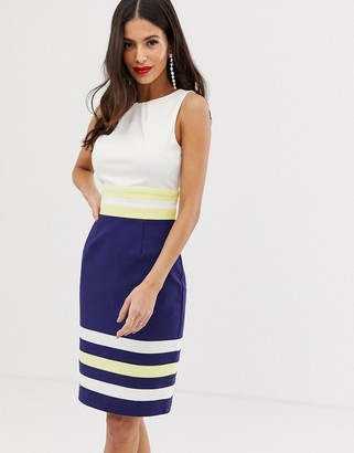 Paper Dolls color block pencil midi dress