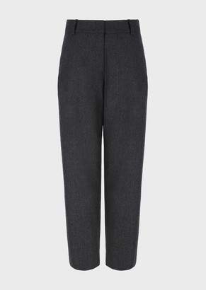 Emporio Armani Mixed-Cashmere Flannel Trousers