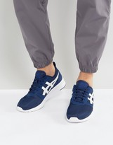Asics Lyte Jogger Trainers In Blue H7g1n 4901
