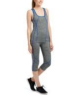 Gray & Royal Blue Yoga Top & Pants
