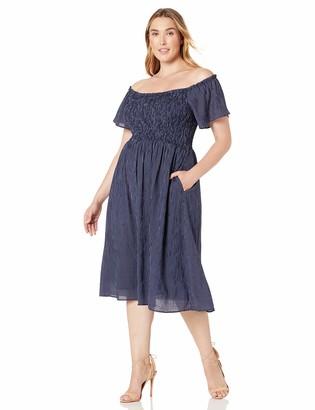 City Chic Women's Apparel Women's Plus Size Dress Fun Smock STRP