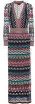 Missoni Striped crochet-knit dress