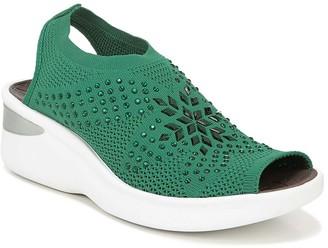 BZees Women's Sandals GREEN - Green Stardust Knit Sandal - Women