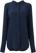 Cédric Charlier concealed fastening shirt - women - Silk - 44