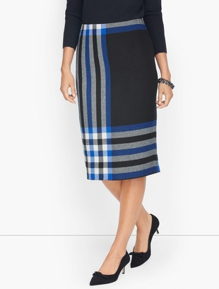 Talbots Plaid Pencil Skirt
