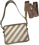 Off-White Off White Binder Beige Leather Handbags
