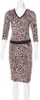 Robert Rodriguez Leopard Print Midi Dress