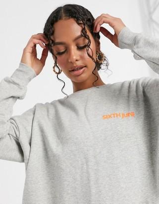 Sixth June oversized sweatshirt with back logo