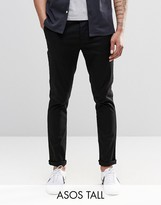 Asos Tall Skinny Chinos In Black