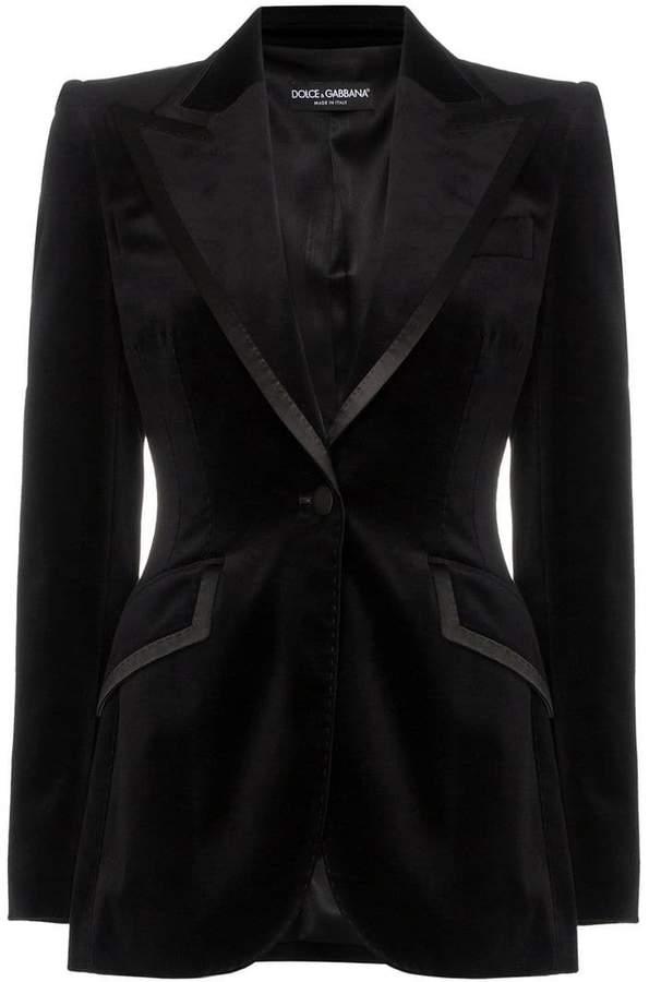 5a9e4ec61c Womens Black Velvet Jacket - ShopStyle UK