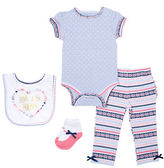 Chick Pea Four-Piece Deluxe Patterned Bodysuit Set