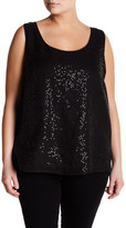 Lafayette 148 New York Cleo Linen Sequin Tank (Plus Size)