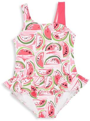 Florence Eiseman Little Girl's One-Piece Watermelon-Print Skirted Swimsuit
