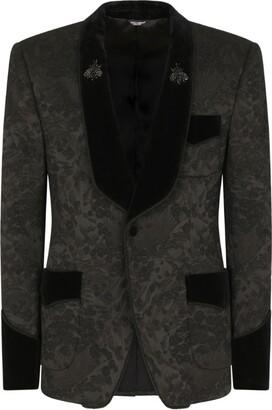 Dolce & Gabbana Embellished Jacquard Tuxedo Blazer