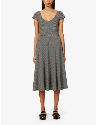 Sessun Boni striped stretch-jersey midi dress