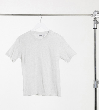 Weekday Alanis relaxed fit crew neck t-shirt in gray melange