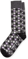 Jonathan Adler Multicolored Cross-Print Socks