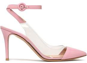 Gianvito Rossi Anise Patent-Leather And Pvc Slingback Pumps