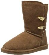 BearPaw Women's Abigail Fur Trimmed Wool Boot,, 8 UK ()