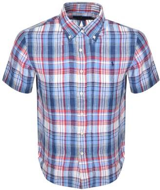 Ralph Lauren Custom Fit Short Sleeve Shirt Blue