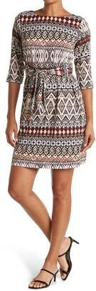 Sandra Darren 3/4 Sleeve Shift Dress