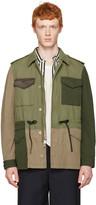 3.1 Phillip Lim Green Patchwork Field Jacket