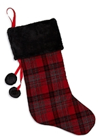 Bloomingdale's Plaid Christmas Stocking - 100% Exclusive