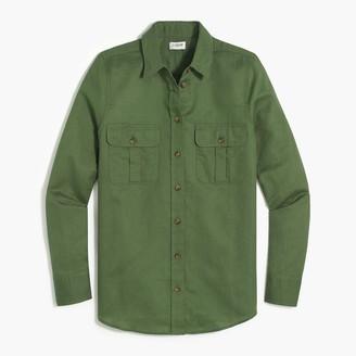J.Crew Linen-cotton button-up utility shirt