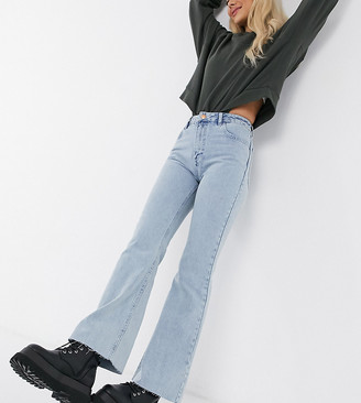 Reclaimed Vintage inspired The '86 super wide flare jean in light stone wash