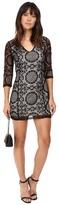 BB Dakota Yazmin Lace Dress w/ Contrast Lining