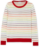 Madeleine Thompson Pigeon Striped Ribbed Cashmere Sweater - Cream